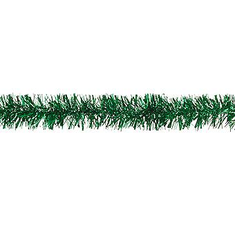 Rich Green Chunky klatergoud kerstboom decoratie - 2m
