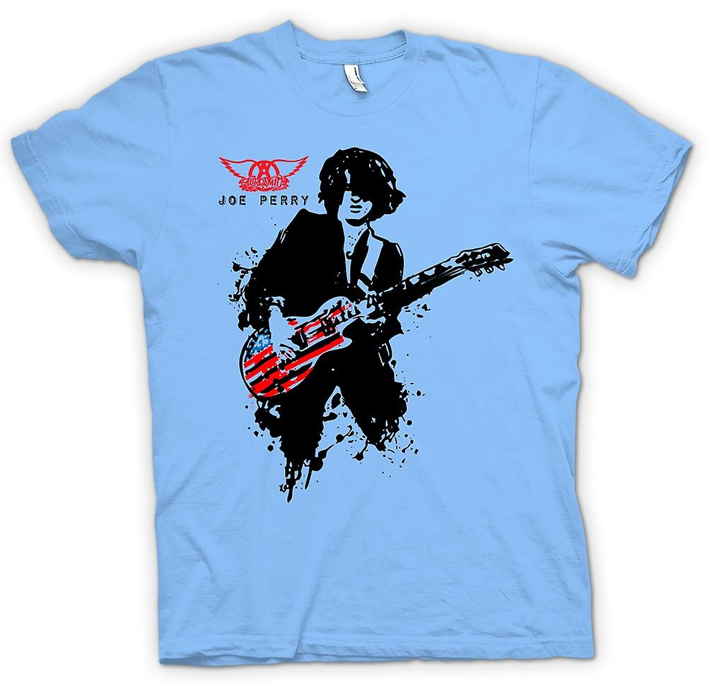 Hombres camiseta-Aerosmith - Joe Perry - guitarra