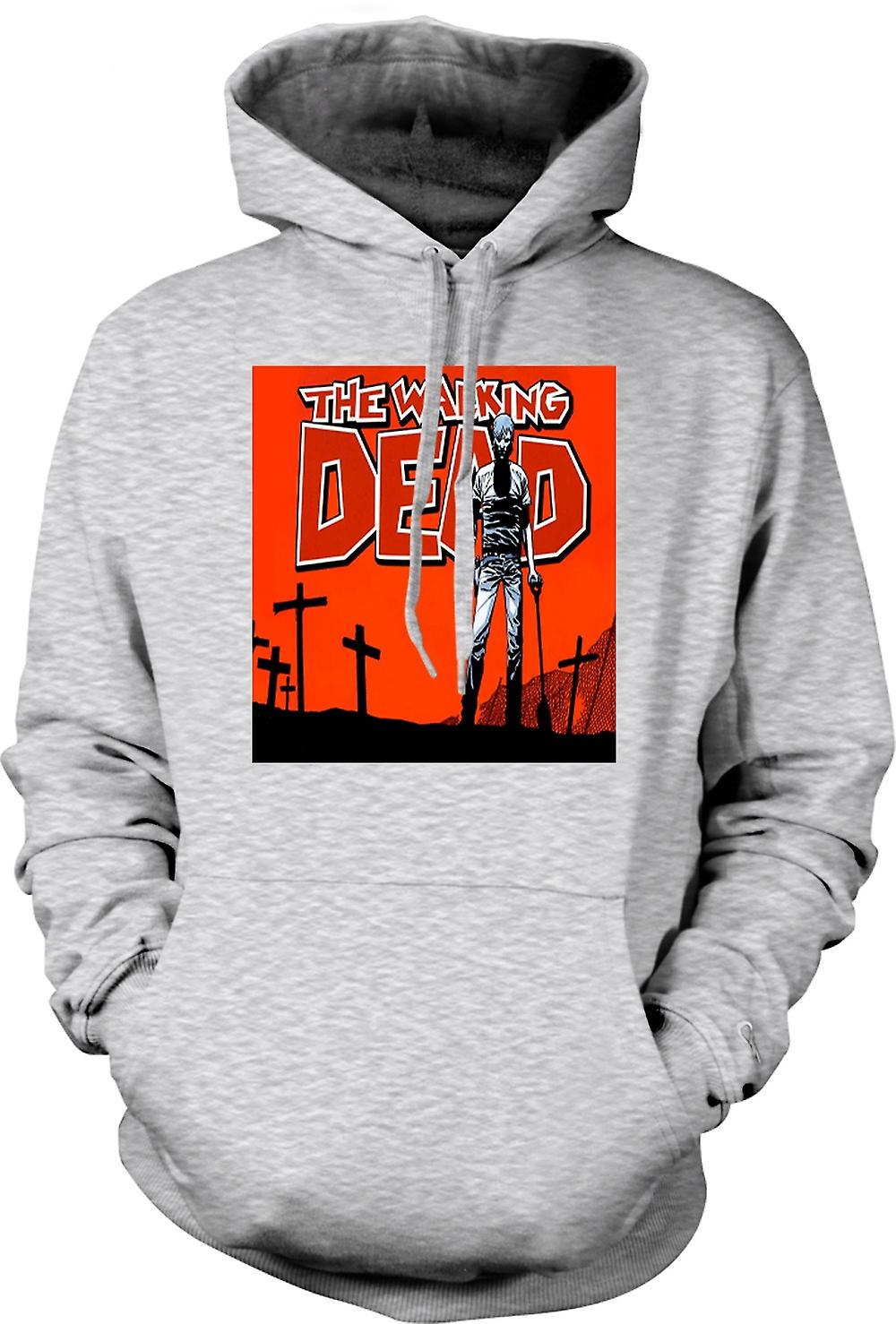 Mens Hoodie - Zombie The Walking Dead - Horror