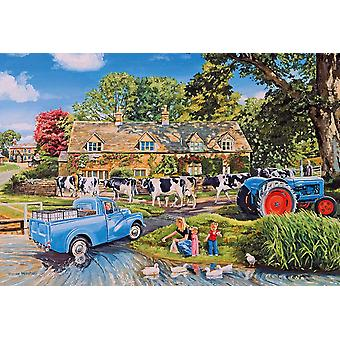 Gibsons Milk On The Move Jigsaw Puzzle (250 XL pieces)
