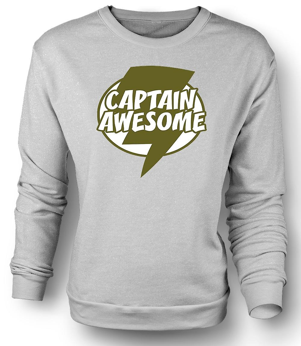 Mens Sweatshirt Captain Awesome - Funny