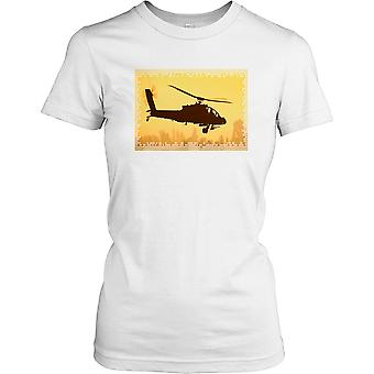 Boeing Apache Helicopter Ladies T Shirt