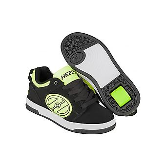 Heelys Black-Bright Yellow GID Voyager Kids One Wheel Shoe