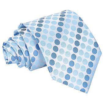 Azure Blue Pastel Polka Dot Classic Tie
