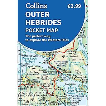 Yttre Hebriderna Pocket karta: Det perfekta sättet att utforska de västra öarna