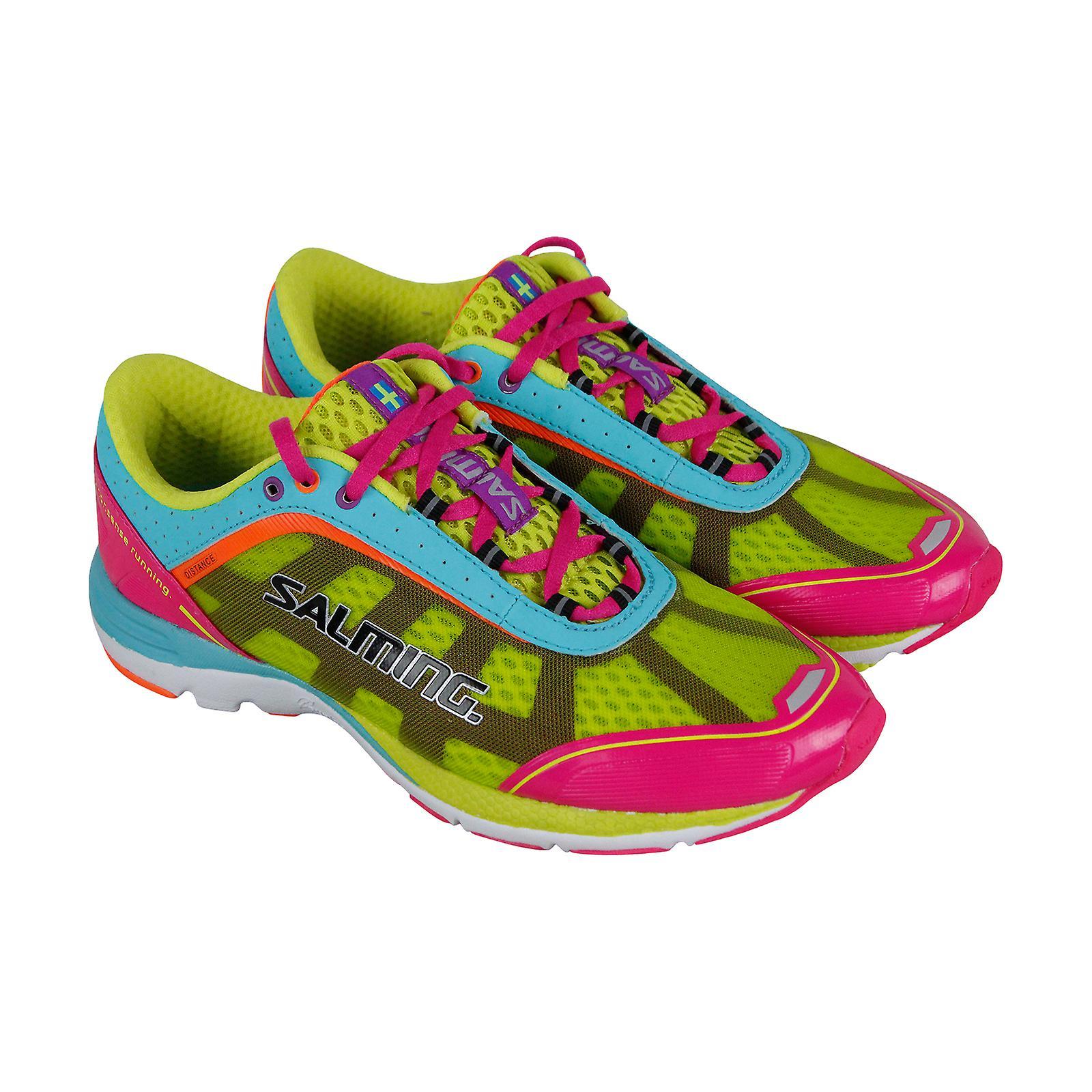 Salming Distance 3 vert femmes maille sport Lace Up chaussures de course