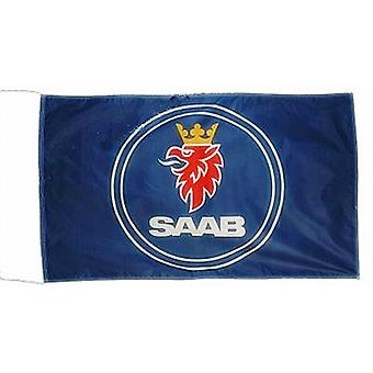 Store Saab nylon flag 1500 mm x 900 mm (på)