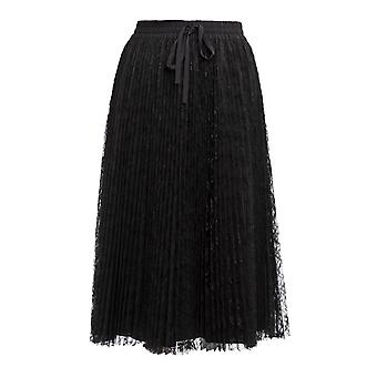 Red Valentino Black Polyester Skirt