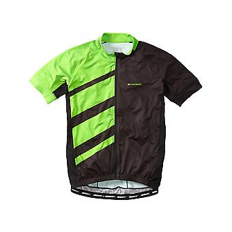 Madison Black-Green Flash 2016 Sportive Race Short Sleeved Cycling Jersey
