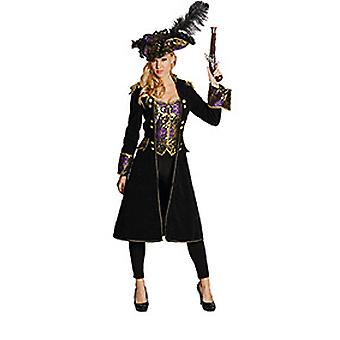 Deluxe pirate coat pirate ladies costume Pirate Queen Carnival