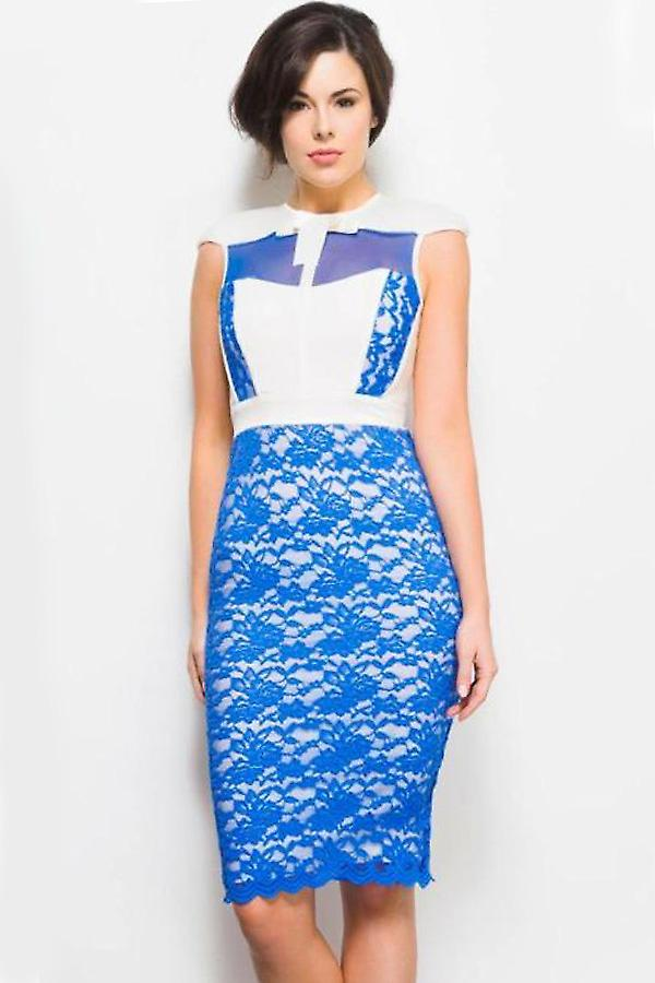 Tempest Cobalt and Cream Hunter Dress