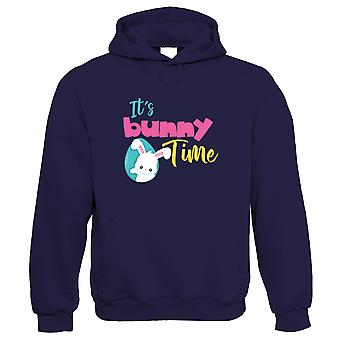 It's Bunny Time Hoodie | Easter Bunny Rabbit Egg Chick Chocolate Bonnet  | Parade Basket Ribbon Trail Hot Cross Bun New Life  | Easter Gift Him Her Birthday