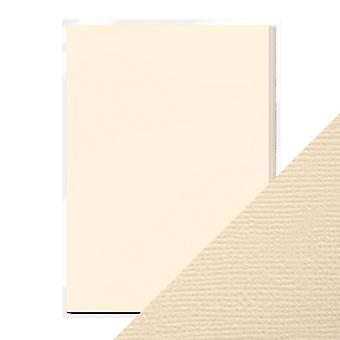 Craft Perfect von Tonic Studios A4 Weave Textured Card Cream | Packung von 10