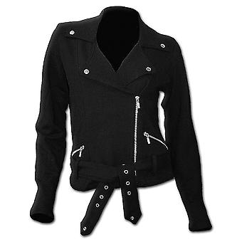 Spiral Direct gothique METAL STREETWEAR - molleton femme Biker Jacket Black| Metal