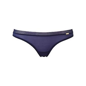 Gossard 6276 Women's Glossies Midnight Blue Thong