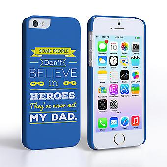 Caseflex Dad Heroes Quote iPhone 5 5S Case Blue