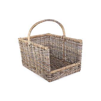 Medium Kubu Grey Rattan Open Ended Log Basket