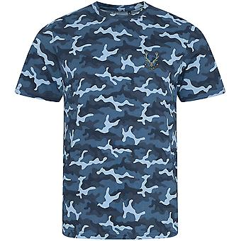 Seaforth Highlanders - Licensed British Army Embroidered Camouflage Print T-Shirt