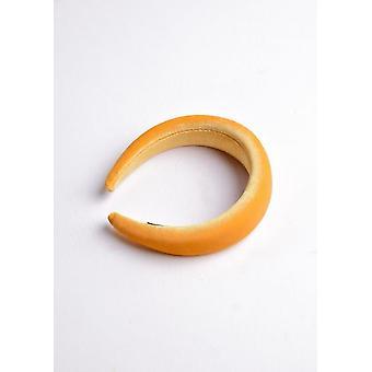 Terciopelo acolchado diadema amarillo