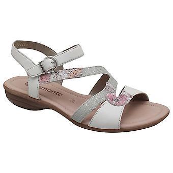 Remonte Cross Over Strap Adjustable White Sandal