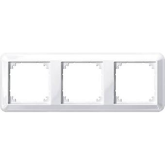 Merten 3x frame Atelier-M Polar hvid blank 388319