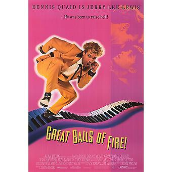 Great Balls Of Fire (1989) Original Kino Poster