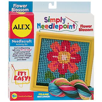 Simply Needlepoint Kit-Flower 395-F