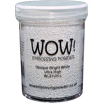 Wow! Embossing Powder Large Jar 160Ml Opaque Bright White Ultra High Wow Lg2 L01uh
