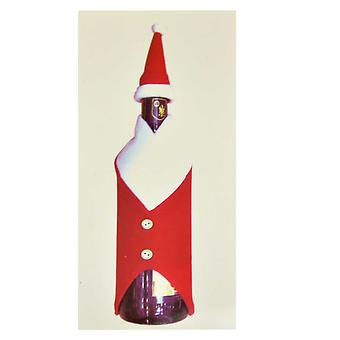 Christmas Wine Bottle Cover Bag Santa Suit Xmas Dinner Table Party Decorations