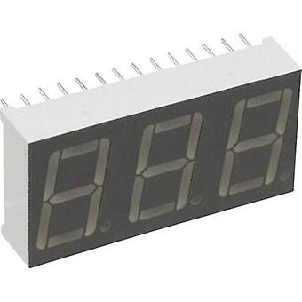 Seven-segment display Red 14.22 mm 2.1 V No. of digits: 3