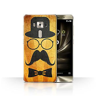 STUFF4 Case/Cover for Asus Zenfone 3 Deluxe ZS570KL/Handlebar/Glasses/Retro Moustache
