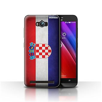 STUFF4 Case/Cover for Asus Zenfone Max ZC550KL/Croatia/Croatian/Flags