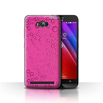 STUFF4 Case/Cover for Asus Zenfone Max ZC550KL/Pink/Water Droplets