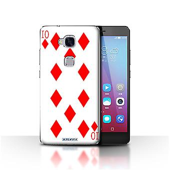 STUFF4 Case/Cover for Huawei Honor 5X/GR5/10 of Diamonds/Playing Cards