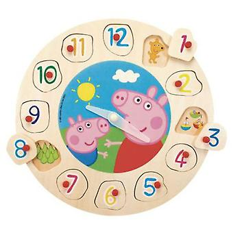Simba Peppa Pig Wooden Clock (Toys , Preschool , Puzzles And Blocs)