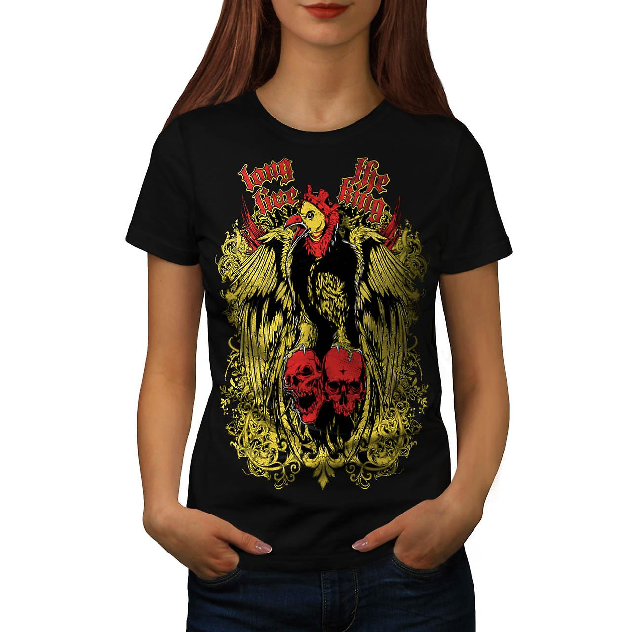Long Live King Bird Giant Eagle Women Black T-shirt | Wellcoda