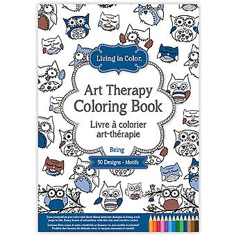 Living In Color Art Therapy Coloring Book-Being LIC610-C