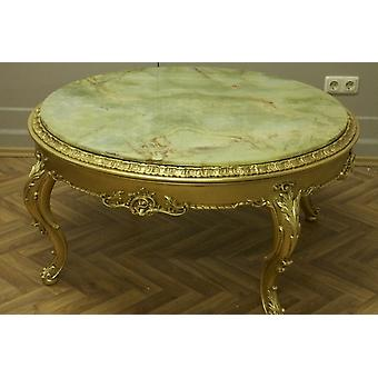 baroque table couch  with marble  Onyx antique style  Vp0878O