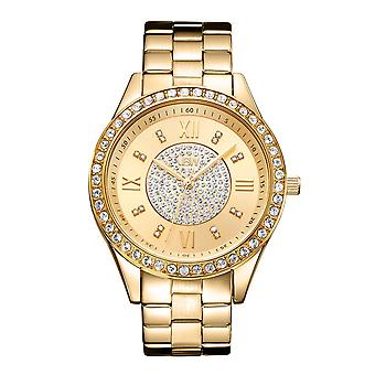 JBW diamond ladies stainless steel watch MONDRIAN - gold