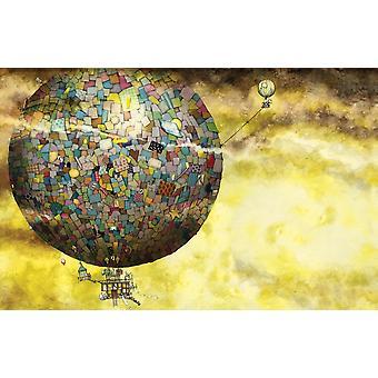 Up Up And Away Variante Poster drucken von Colin Thompson