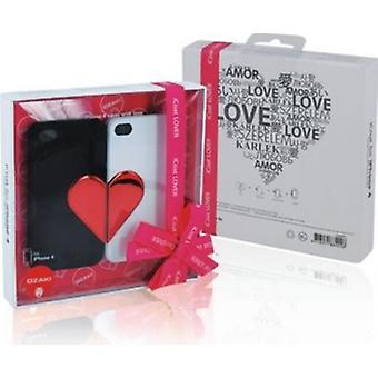 Ozaki iCoat Lover Forever Cover Hülle schwarz/weiß iPhone 4 / iPhone 4S