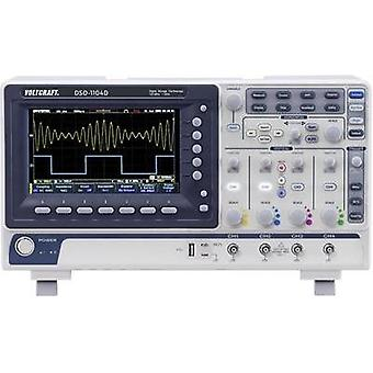 Digital VOLTCRAFT DSO-1104D 100 MHz 4-channel 250 null 10 null 8 Bit Digital storage (DSO), Spectrum analyzer