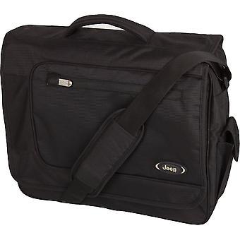 Jeep Bristol Laptop Messenger Bag, Black