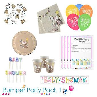 Rock A Bye Baby Shower Party Tableware Bumper Pack 1