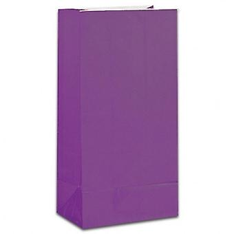 Paper Party bags - Purple - pack of 12