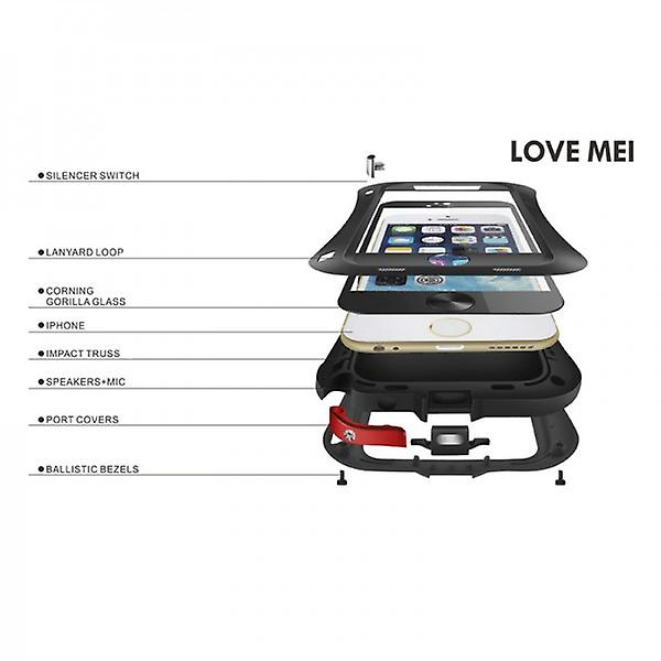 Love MEI Outdoor metal bumper for Apple iPhone 6 4.7 protective case black