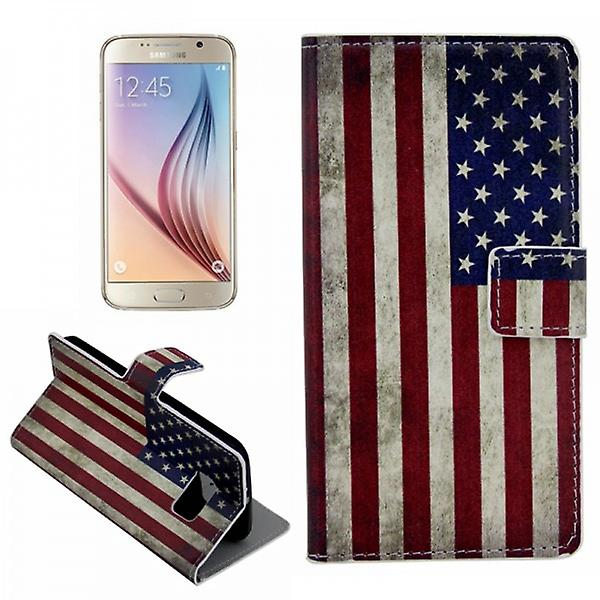 Cover wallet pattern 10 for Samsung Galaxy S6 G920 G920F