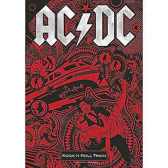 AC/DC Rock N Roll Train großes Tuch Poster / Flagge 1100 x 750 mm (hr)