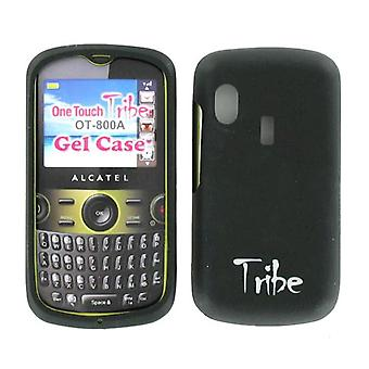 Alcatel One Touch Tribe OT-800A Silicon Gel Skin Case BLK800AGEL (Black)