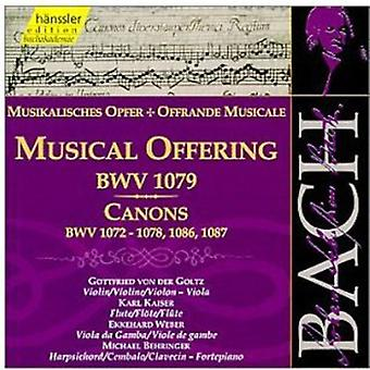 J.S. Bach - Bach: Musical Offering; Canons [CD] USA import